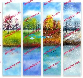 Watercolor landscapes inspired by the four seasons