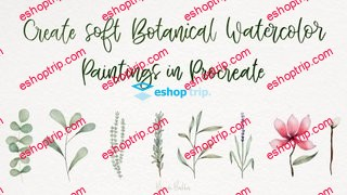 Create Soft Botanical Watercolor Paintings in Procreate