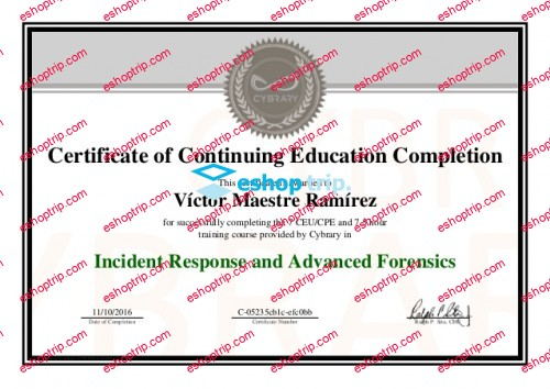 Incident Response and Advanced Forensics Cybrary