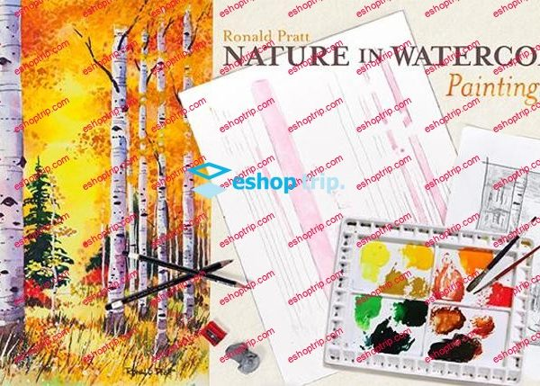 Mybluprint Nature in Watercolor Painting Trees
