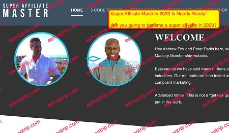 Peter Parks Andrew Fox The Ultimate Super Affiliate Mastery 2020