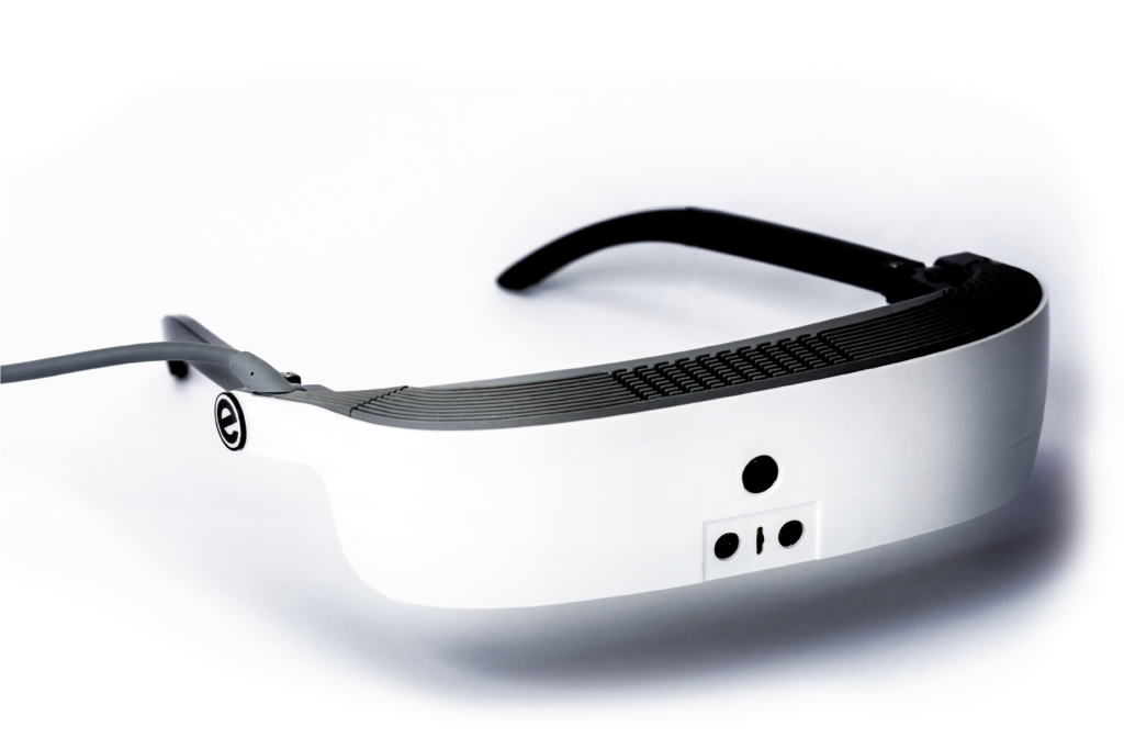 eSight 3 in white, low vision product