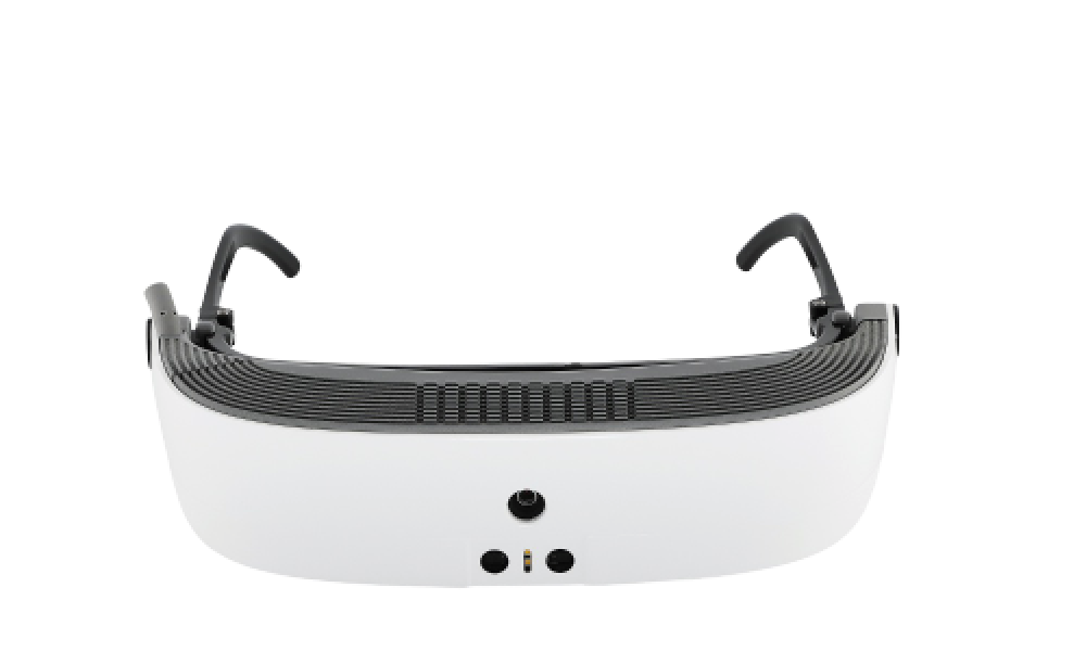 Front facing view of eSight's low vision device