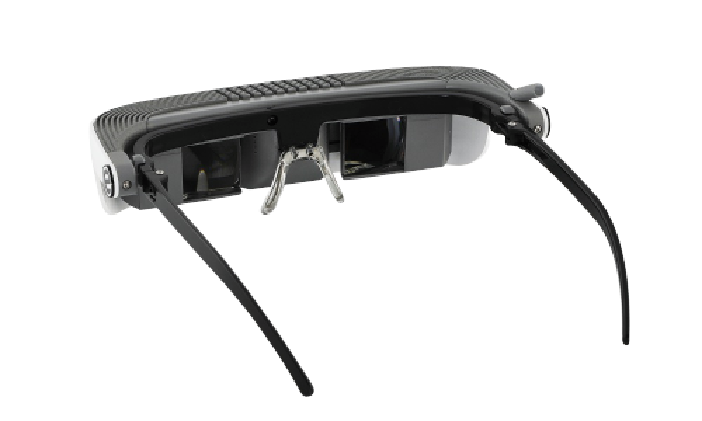 final view of eSight eyewear's low vision device
