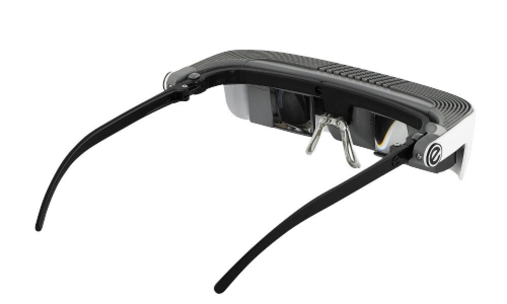eSight's low vision device for the visually impaired facing the 2:00 pm position