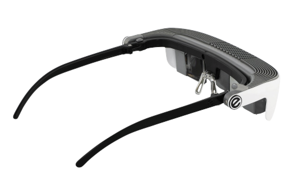 eSight's low vision device for the visually impaired facing the 2:30 pm position