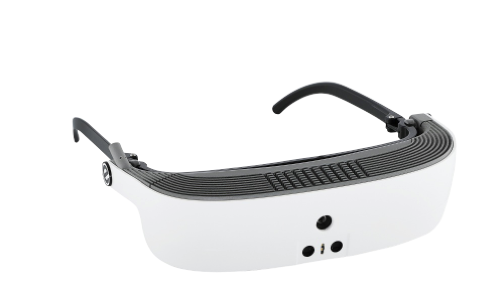 eSight's low vision device in white