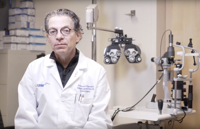 Dr. Robert Devenyi is a supporter of eSight's electronic eyewear