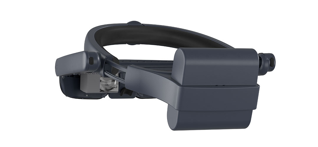 Back view of the new eSight 4 technology for the blind