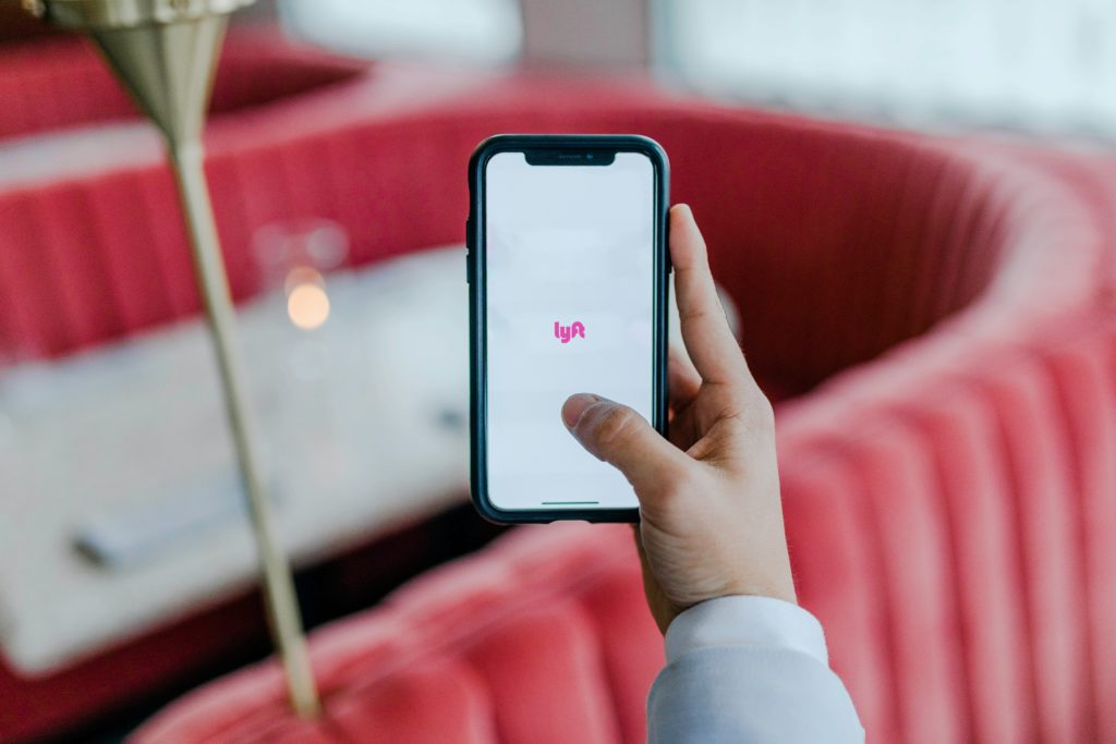 Lyft on iPhone, handy for accessible living
