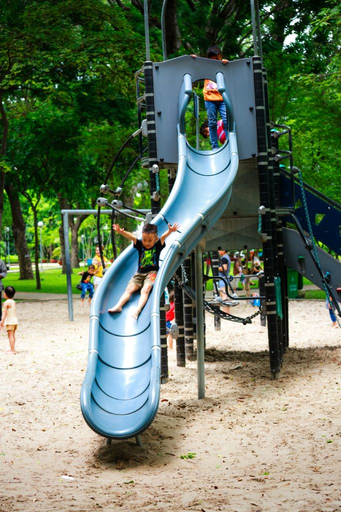 Children at a playground