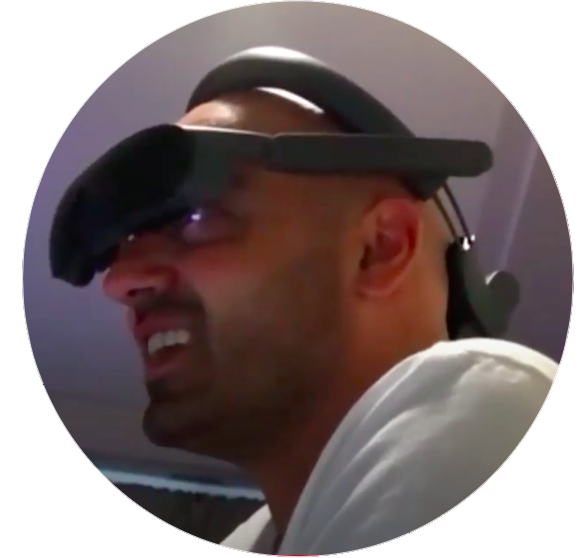 Picture of Anthony wearing eSight