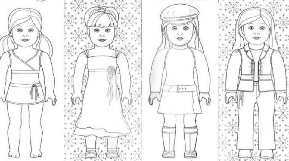 Get This American Girl Coloring Pages Free Printable Q8ix13