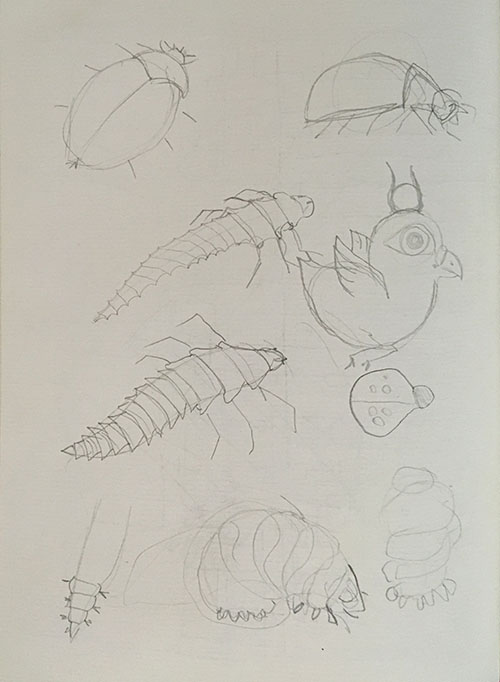 creatures - from the first sketchbook