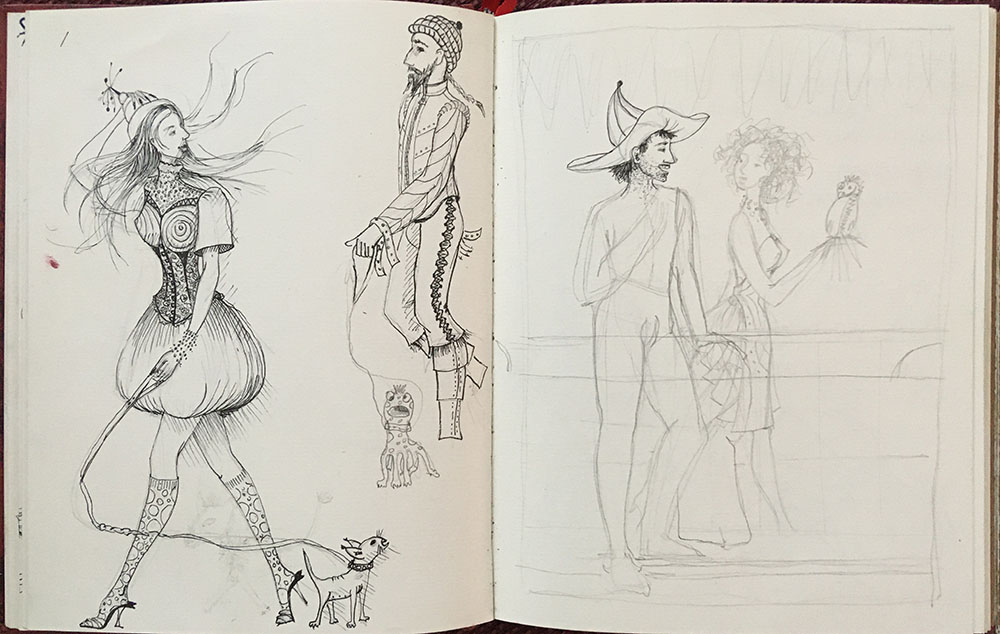 people - from the first sketchbook