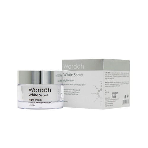 produk Wardah White Secret Night Cream dan harganya