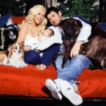Christiana Aguilera Family with Dogs