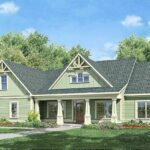 Small Modern Farmhouse with Front Porch.