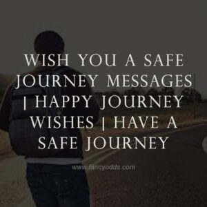 Wish You A Safe Journey Messages | Happy Journey Wishes | Have A Safe Journey
