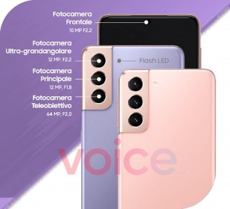 Leaked infographics with camera details: for the Galaxy S21 and S21+