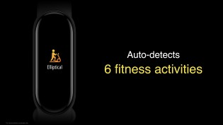 6 fitness modes are detected automatically