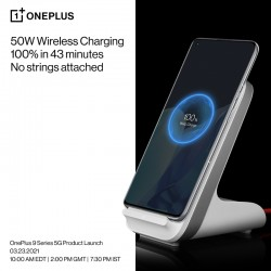 OnePlus 9 Pro: 1-100% charge in 43 minutes with the new 50W wireless charger