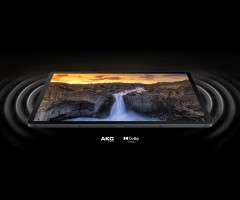 stereo AKG audio speakers with Dolby Atmos