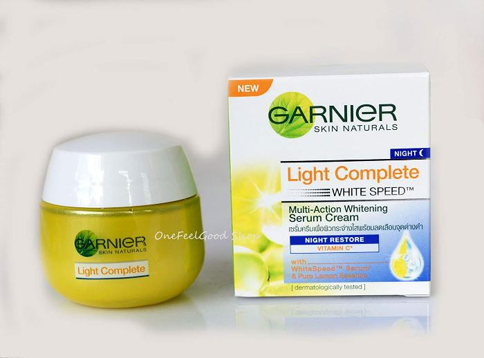 garnier Light Complete Whitening Serum Cream Night Restore