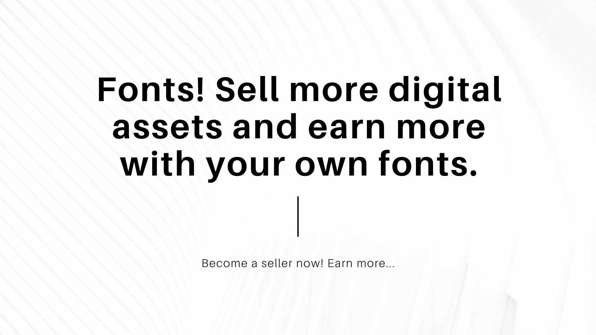 sell your fonts
