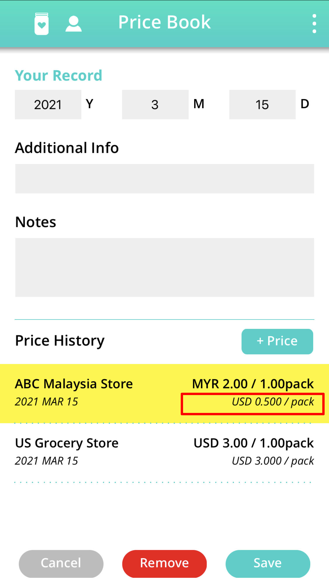 price book add item price with foreign currency