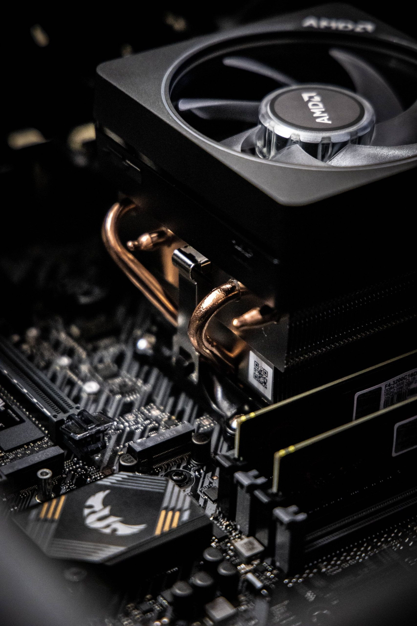 motherboard with cooler