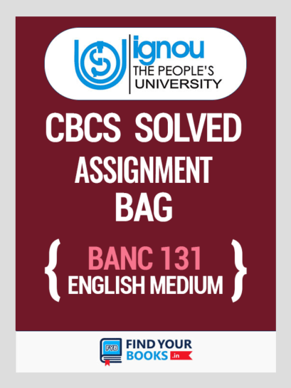 BANC 131 Solved Assignment for Ignou 2019-20 - English Medium