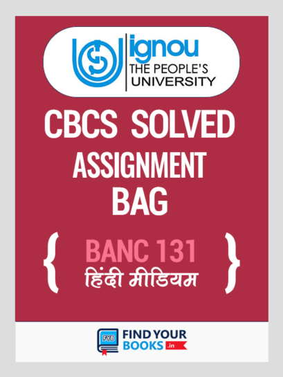 BANC 131 Solved Assignment for Ignou 2019-20 - Hindi Medium