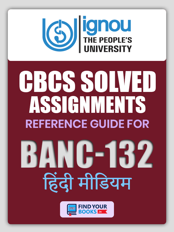BANC 132 Solved Assignment for Ignou 2019-20 - Hindi Medium