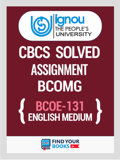 BCOE-131 Solved Assignment for Ignou 2019-20 - English Medium