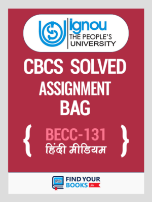 BECC 131 Solved Assignment for Ignou 2019-20 - Hindi Medium