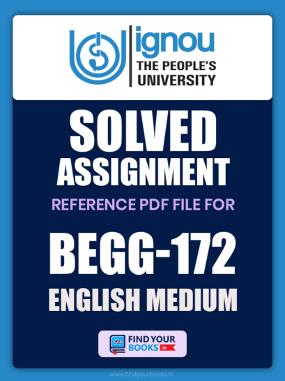 BEGG172 Ignou Solved Assignment