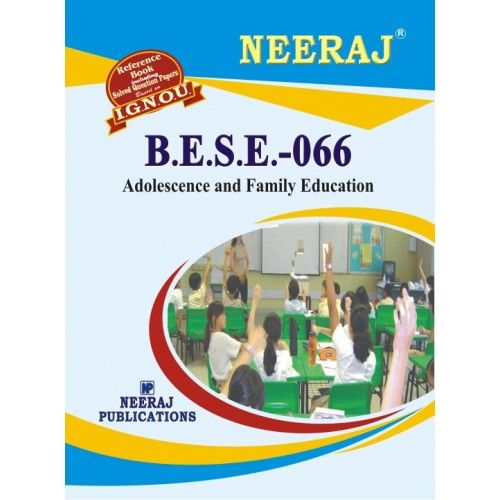 IGNOU : BESE-066 Adolescence & Family Education- English Medium