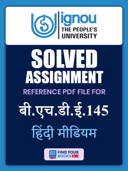 BHDE145 Ignou Solved Assignment