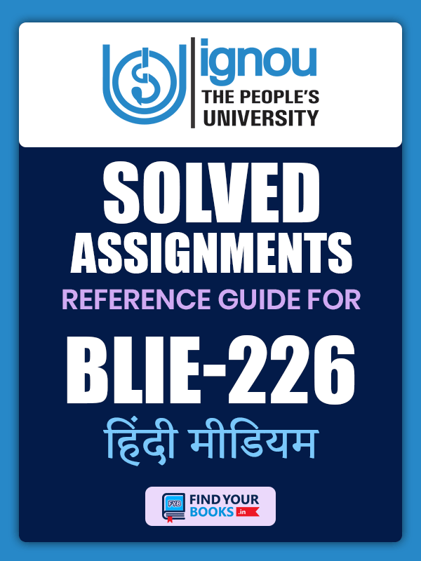 BLIE226 IGNOU Solved Assignment Hindi Medium