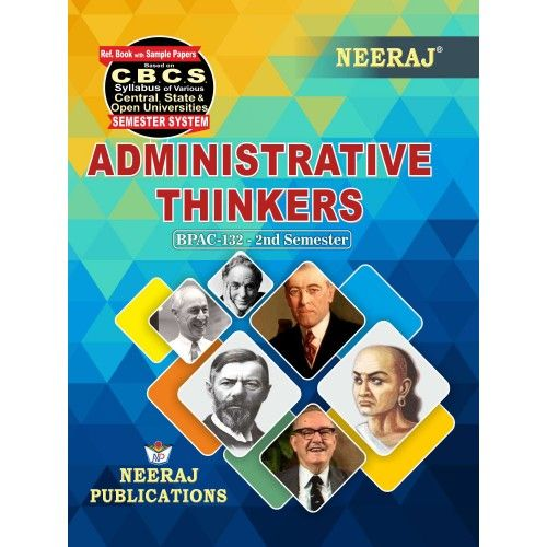 BPAC-132 Book for 2020 Exams - Administrative Thinkers in English Medium
