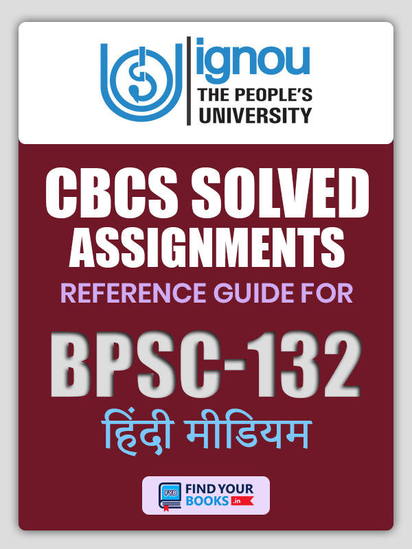 BPSC-132 Solved Assignment for Ignou 2019-20 - Hindi Medium