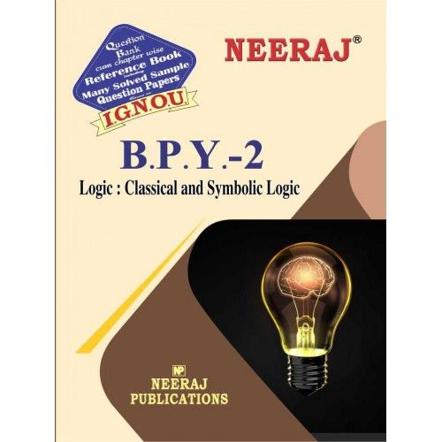 IGNOU BPY-2 Logic: Classical and Symbolic in English Medium