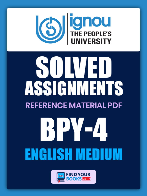 BPY4 IGNOU Solved Assignment English Medium
