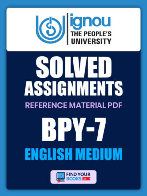 BPY7 IGNOU Solved Assignment English Medium