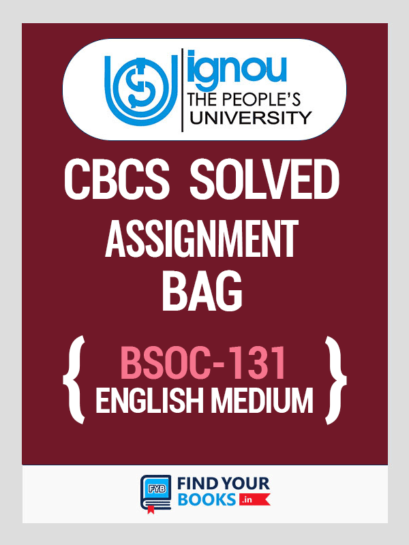 BSOC 131 Solved Assignment for Ignou 2019-20 in English Medium
