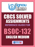 BSOC 132 Solved Assignment for Ignou 2019-20 in English Medium