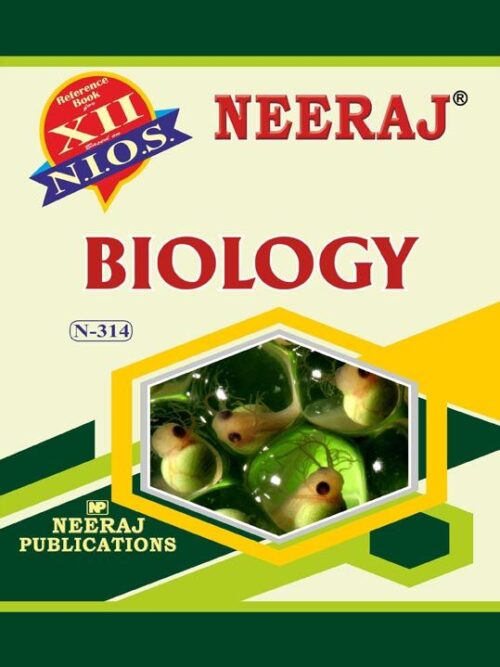 NIOS 12th Biology Guide/Book in English Medium for 2020 Exam
