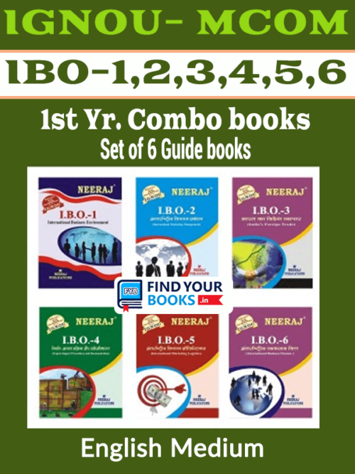 IGNOU M.Com 1st  Year Combo - IBO-1 IBO-2 IBO-3 IBO-4 IBO-5 IBO-6 - English Medium