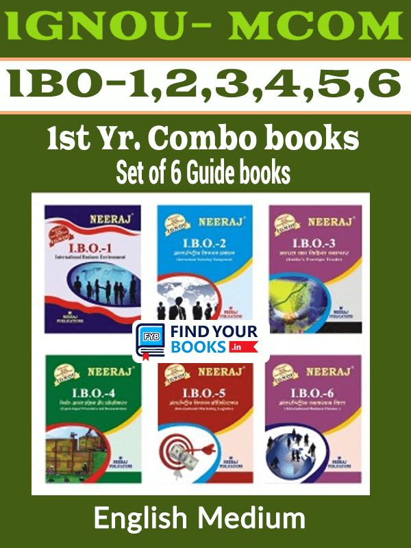Ignou MCom 1st Year Books English Medium